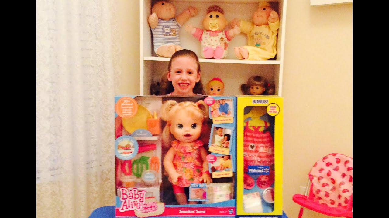 Baby Alive Doll And Accessories Unboxing By New Toy