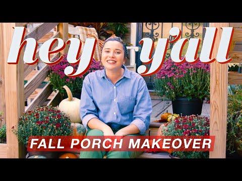 Cheap Fall Porch Makeover | Seasonal Home Décor | Hey Y'all