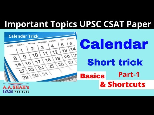 UPSC CSAT Calendar Trick in Hindi || Maths Trick || Reasoning for UPSC IAS Prelims Exam