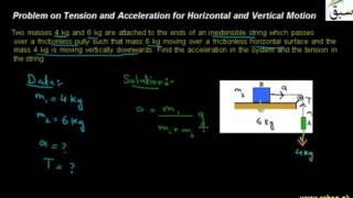 15 problem on tension and acceleration for horizontal and vertical motion ch3 9th