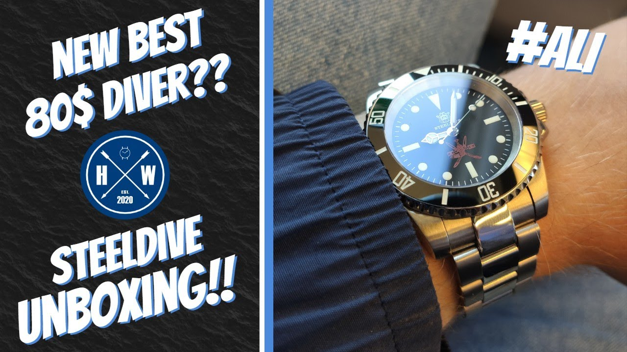 My First Aliexpress Watch!! | Steeldive SD1954 Submariner Unboxing