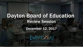 Dayton Board of Education Meeting 12-12-2017