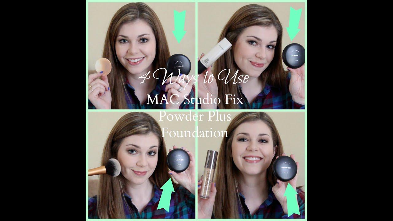 4 ways to use mac studio fix powder plus foundation youtube