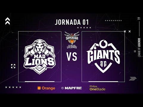 MAD LIONS E.C. vs VODAFONE GIANTS | Superliga Orange League of Legends | Jornada 01 | Temporada 2019