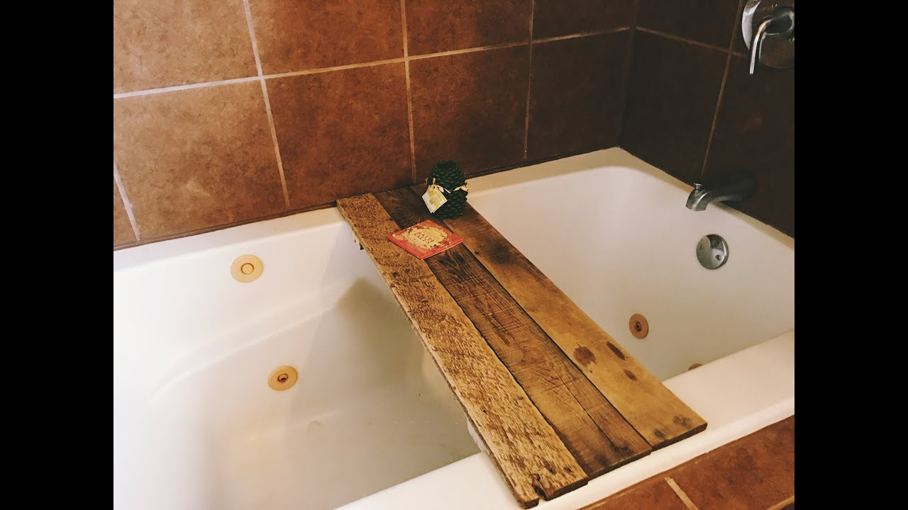 DIY BATH TUB TRAY - YouTube