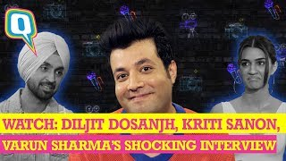 Arjun Patiala Movie Cast Honest Bollywood Interview Ft Diljit Dosanjh Kriti Sanon & Varun Sharma