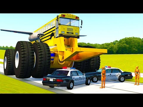MONSTER MACHINES VS POLICE BLOCKADE CRASHES AND FAILS!