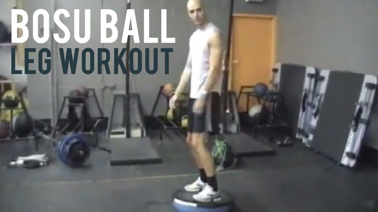 BOSU Ball Leg Workout - YouTube