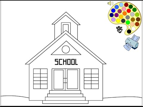School Coloring Pages For Kids - School Coloring Pages - YouTube
