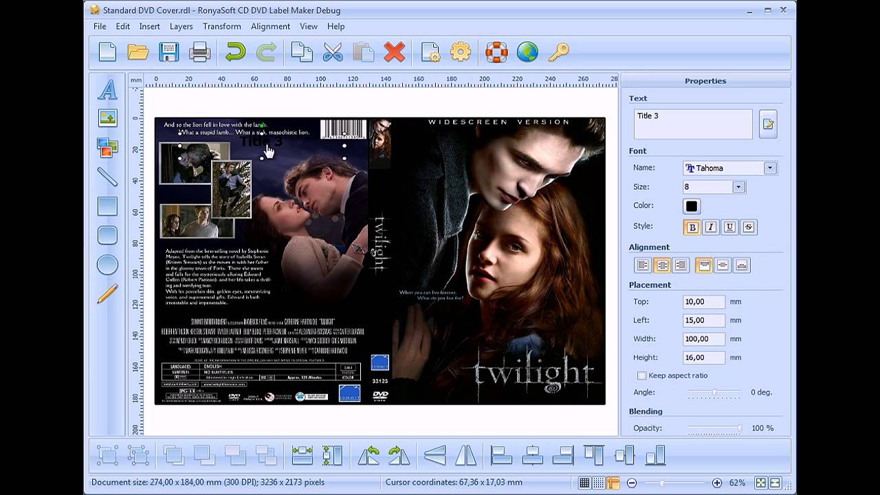 How to design and print dvd cover without photoshop youtube for How to make a blueprint online