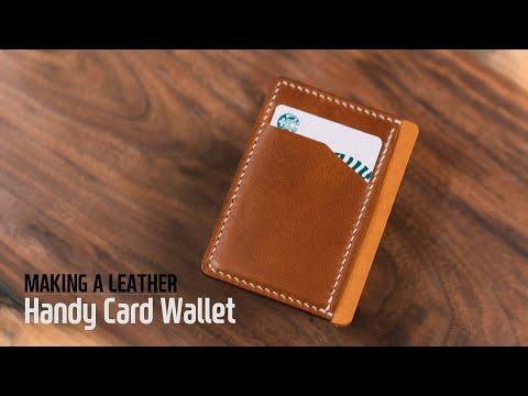 Leather Handy Card Wallet / 카드지갑 / Leather craft PDF / 가죽공예 패턴 / ASMR