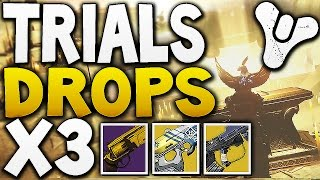 Destiny - TRIALS FLAWLESS LIGHTHOUSE DROPS x3 Characters (Exotic Loot)