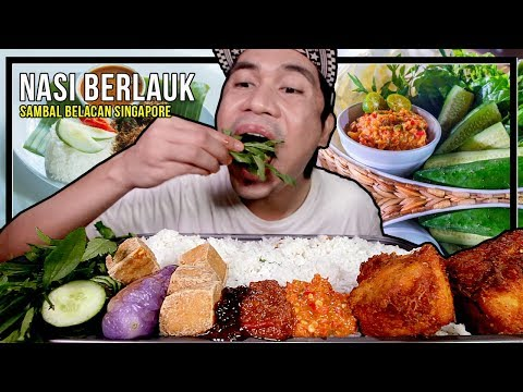 AKU TRY SAMBAL BELACAN WAHYU BRAND SINGAPORE! DGN NASI SETALAM & ULAMAN | EATING SHOW W/ ASMR