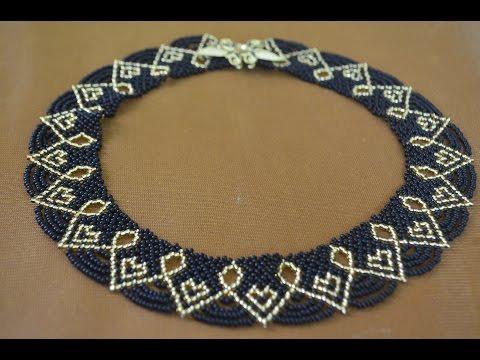 Ожерелья из бисера со схемами Ожерелья, колье из бисера