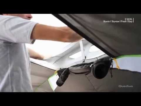 1589d9e8c Quechua - tenda 2 Seconds XXL IIII Illumin Fresh (sky view) - YouTube