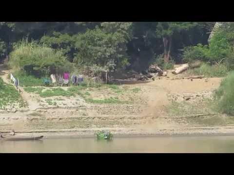 Life along the Irrawaddy river from Bagan to Mandalay, Myanmar