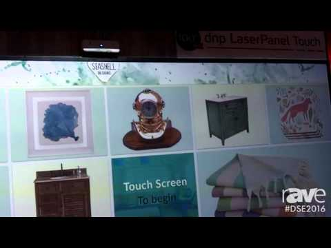 DSE 2016: dnp Shows LaserPanel Touch Display System With Ultra Short Throw Projector
