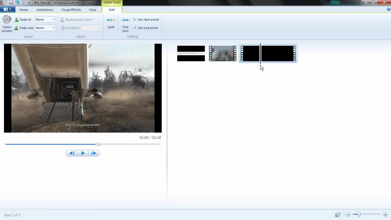 how to mute segments of videos in windows live movie maker