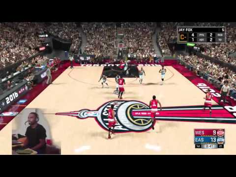 Nba 2k17 MyCareer All-Star Game Full Game Play - Fox Puts Up A 20-20 Among The Greats!!!!