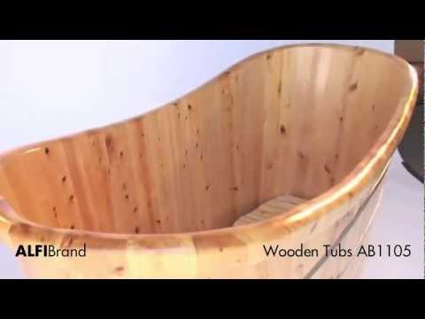 Wooden Tub Ab1105 Cedar Wood Bath Tub Free Standing