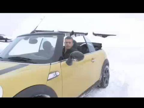 Mini Cabrio Mit Stoffkapuze Durch Den Winter Youtube