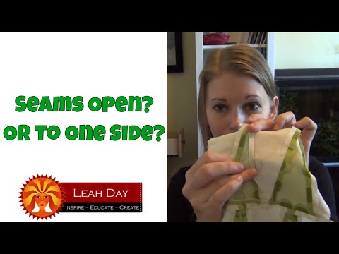 Press Quilt Seams Open Or To One Side? The Great Seam Pressing Debate! Podcast #32
