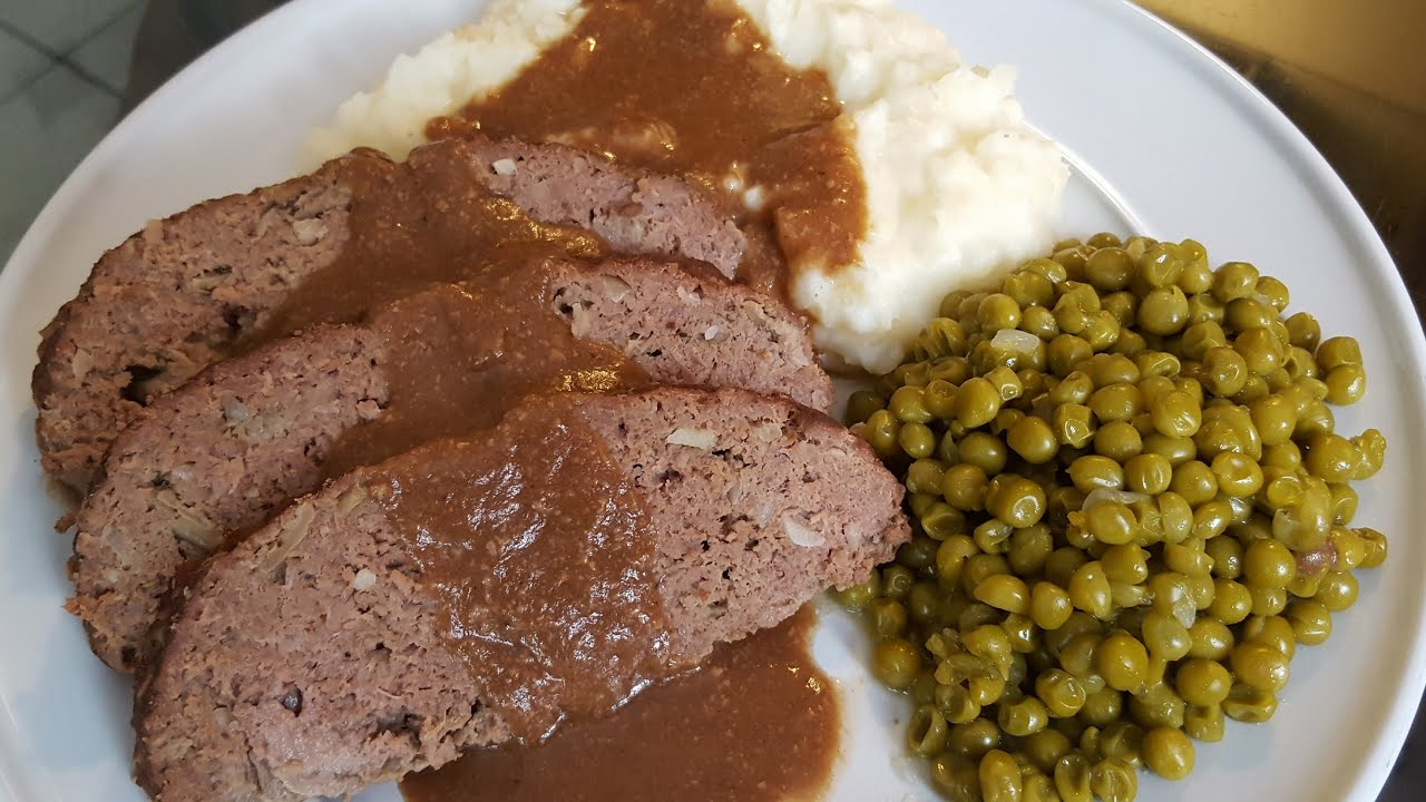How To Make Meatloaf With Mashedpotatoes Brown Gravy And