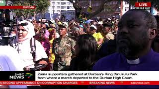 Supra Mahumapelo delivers his message of support for Zuma