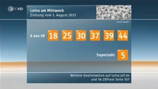 ZDF heute journal - Falsche Lottozahlen [01.08.2015]