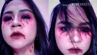 Video Easy Vampire Make up Tutorial #NANDAARSYINTABDAY download MP3, 3GP, MP4, WEBM, AVI, FLV September 2018