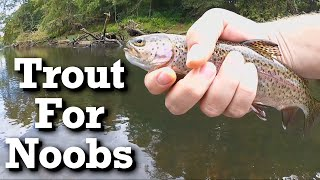 Beginner trout fishing with Power Bait - Trout Bait
