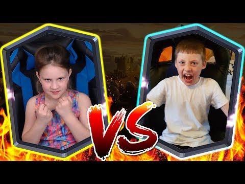 Дети ЮТУБЕРОВ - ПОДРАЛИСЬ !!! Дарина VS Добрыня → Девочка БЬЁТ Мальчика в Clash Royale !!!
