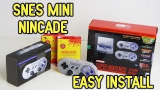 SNES Classic Edition Nincade Install - Completely Wireless Bluetooth No Dongles!