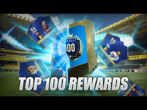 TOP 100 TOTS FUT CHAMPIONS REWARDS PACK! FIFA 17 ULTIMATE TEAM PACK OPENING