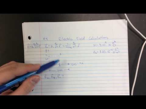 Electric Field Calculations P3