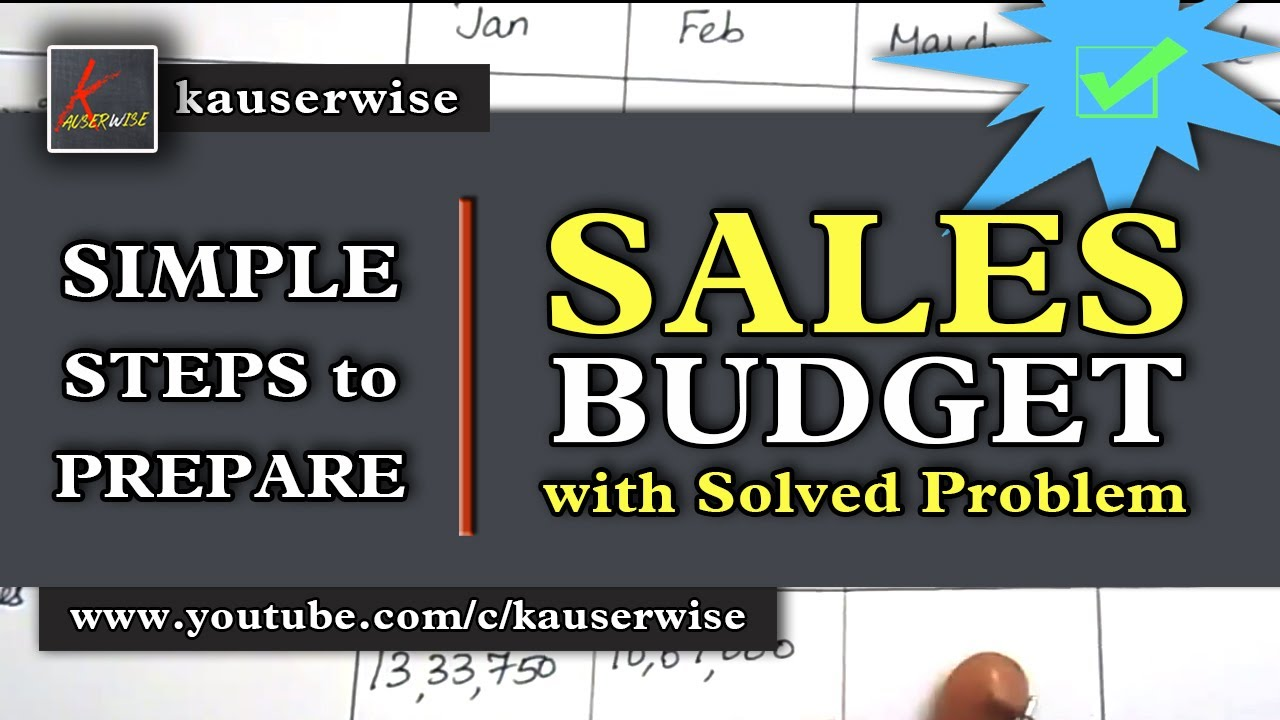 Easy steps to prepare||Sales budget||Cost of Sales||Volume of sales||Solved  Problem||by kauserwise