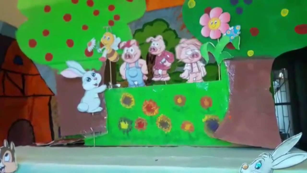 Los Tres Cerditos Obra Con Titeres CAU Sogamoso - YouTube