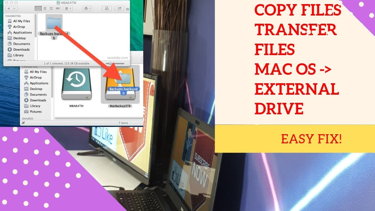 How to COPY files from MAC OS, IMAC, MACBOOK to EXTERNAL ...