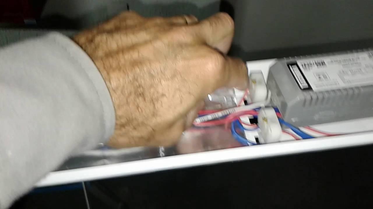 Como instalar lampada tubular de led no lugar de for Instalar fluorescente led