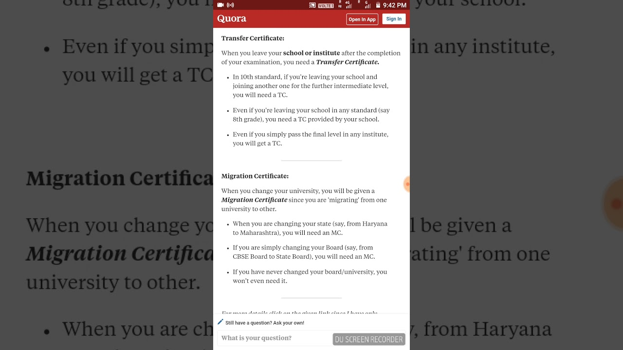 How to get migration certificate, transfer certificate and character  certificate from college or uni