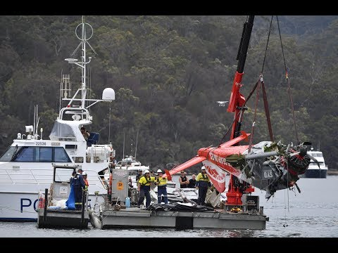 Plane lifted from Sydney river after crash killed British CEO
