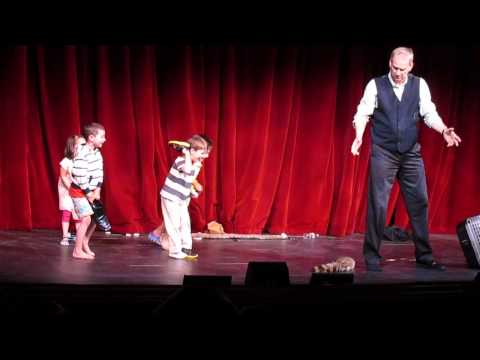 Transatlantic Disney cruise 2014- Magic Dave Show with cute 5 year old