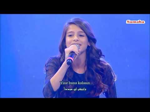 طفلة عربية في احلى صوت تركيا لدرجة انهم طلبو منه اعادة الغناء