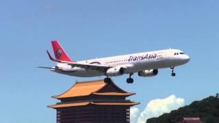 2014-09-06 復興航空Transasia Airways GE311 (B-22608) 杭州HGH-松山TSA Landing Rwy 10 (A321-231)