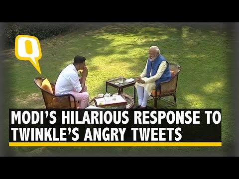 PM Modi's Hilarious Response to Twinkle Khanna's Anger Against Him | The Quint
