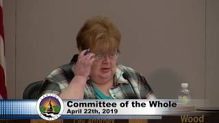 April 22nd, 2019 Lansing Committee of the Whole Meeting