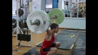 Хафизов Илья, 15 лет вк 46 Рывок 55 кг