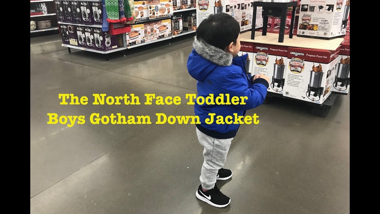 58f6f085a78f The North Face Toddler Boys Gotham Down Jacket - YouTube