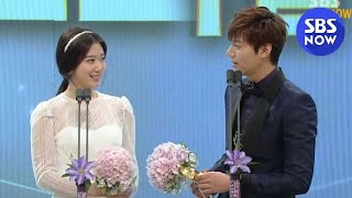 Download lagu [2013연기대상] 이민호♥박신혜 베스트 커플상 / The Heirs Lee MIn-ho, Park Shin-Hye Best couple Awards / Eng Subtitle