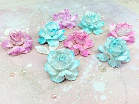 Как сделать цветы из бумаги для скрапбукинга